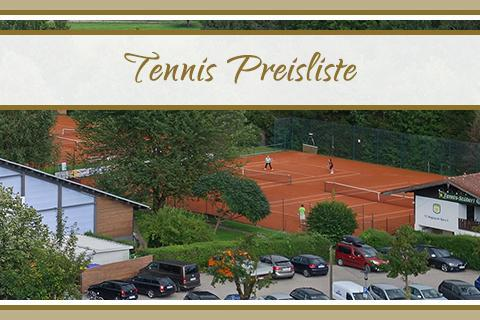 Preisliste Tennis Wellnessgarten Waging