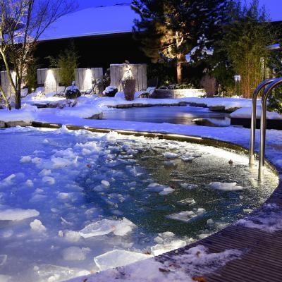 Wellness Garden Winter 2017 Night ice hole
